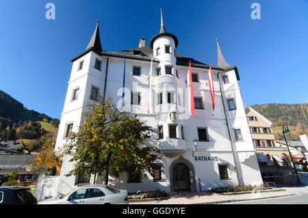 Zell am See: town hall, Austria, Salzburg, Pinzgau - Stock Photo