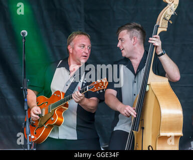 The Firebirds Coleford Music festival 2016 - Stock Photo