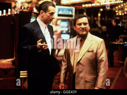 CASINO / Casino USA 1995 / Martin Scorsese ROBERT DE NIRO (Sam 'Ace' Rothstein) und JOE PESCI (Nicholas 'Nicky' - Stock Photo