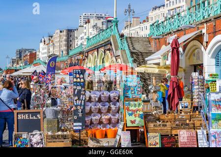 Seaside merchandise on sale in Brighton - Stock Photo