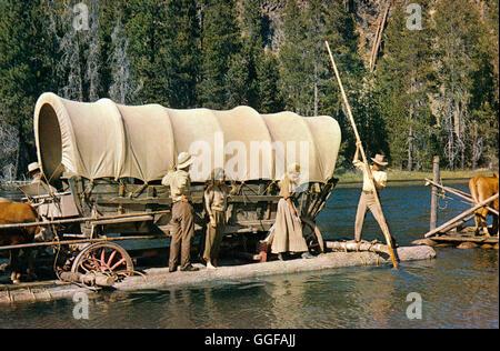 DER WEG NACH WESTEN / The Way West USA 1967 / Andrew V.McLaglen Filmszene: 'The Way West', 1967.  Regie: Andrew - Stock Photo