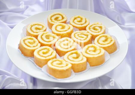 Roll egg cake - Stock Photo