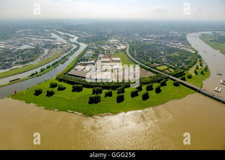 Germany, Europe, aerial photo, bird-eye view, aerial photo, aerial photo, aerial photography, Duisburg, Kassel field, - Stock Photo