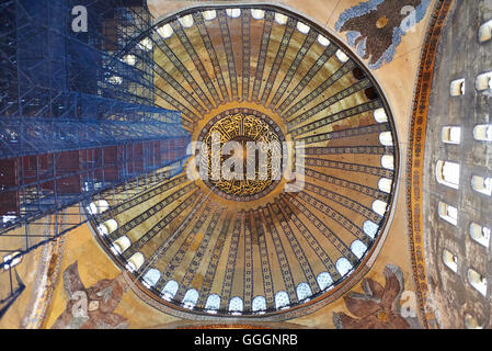 ISTANBUL - TURKEY - OCT 28:The Byzantine Church Hagia Sofia incarnate Word of God known as Hagia Sofia was from - Stock Photo