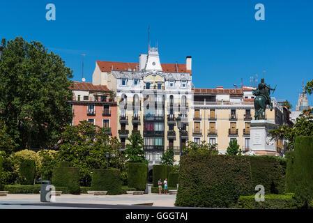 Plaza de Oriente, Madrid, Spain - Stock Photo