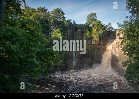 High Force waterfall, Middleton-in-Teesdale, County Durham, England, UK - Stock Photo