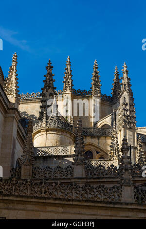 Segovia Cathedral, Segovia, Castilla y Leon, Spain - Stock Photo
