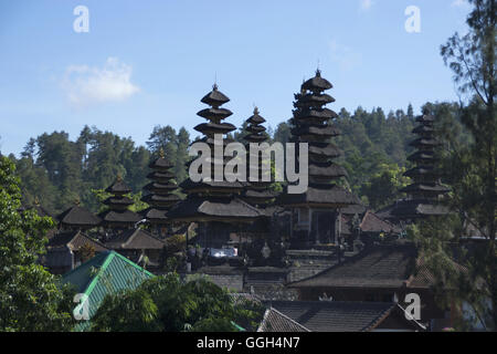 Capmus of Pura besakih temple, Indonesia. Temple complex in the village of Besakih on the slopes of Mount Agung - Stock Photo