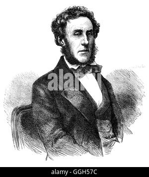 Lord Ashley (1801 – 1885) also known as Lord Shaftesbury following the death of his father, was an English politician, - Stock Photo