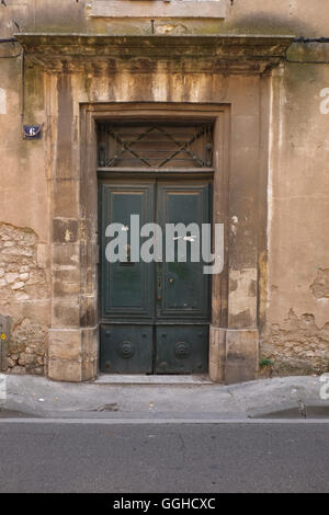 French architecture in the Langedoc region of South-west France including the number 6 - Stock Photo