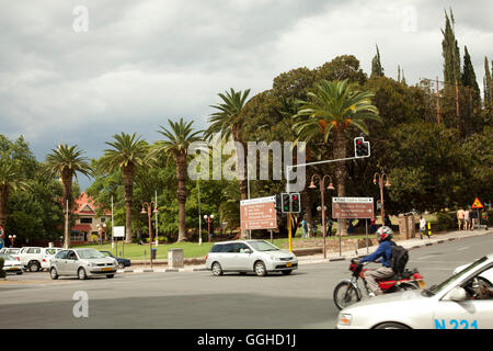 Independence Avenue in Centre of Windhoek - Namibia - Stock Photo