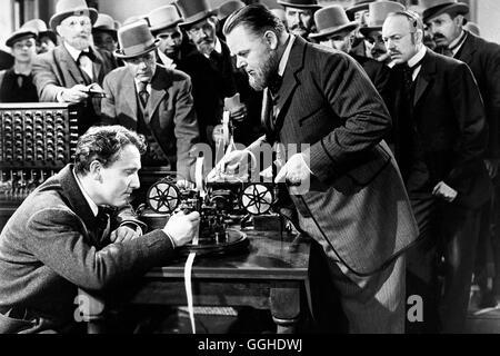DER GROSSE EDISON / Edison the Man USA 1940 / Clarence Brown Szene mit Thomas A. Edison (SPENCER TRACY). Regie: - Stock Photo