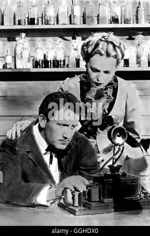 DER GROSSE EDISON / Edison the Man USA 1940 / Clarence Brown Szene mit Thomas A. Edison (SPENCER TRACY) und Mary - Stock Photo