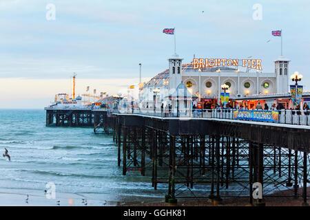 Brighton Pier, Brighton, East Sussex, England, Great Britain - Stock Photo