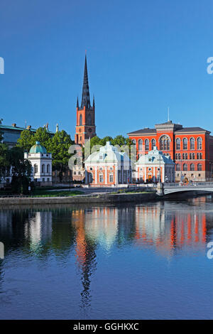 Riddarholmen and Riddarholmen church, Stockholm, Sweden - Stock Photo