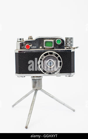 vintage toy of an old photographic rangefinder camera - Stock Photo