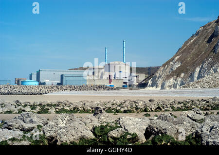 The Penly Nuclear power station,France - Stock Photo