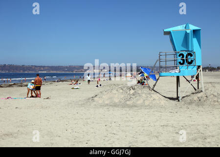 geography / travel, USA, California, San Diego, Beach at del Coronado Hotel, Coronado Island, Additional-Rights - Stock Photo