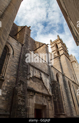 View at the Montpellier Cathedral in France - Stock Photo