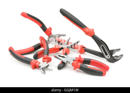 set pliers isolated on a white background - Stock Photo