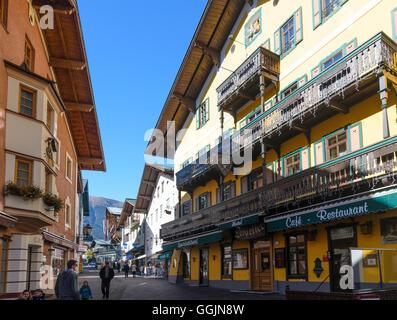 Zell am See: alley Dreifaltigkeitsgasse, Austria, Salzburg, Pinzgau - Stock Photo
