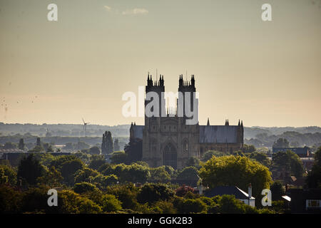 Beverley Minster in Beverley, East Riding of Yorkshire landscape sunrise copyspace gothic Historic history important - Stock Photo