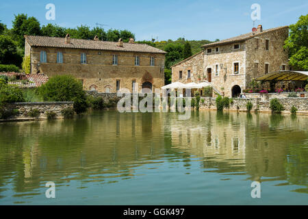 Bagno Vignoni. Val D'orcia, Orcia Valley. Unesco World Heritage Site Stock Photo, Royalty Free ...
