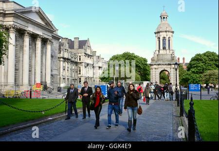 At Trinity College, Dublin, Ireland - Stock Photo