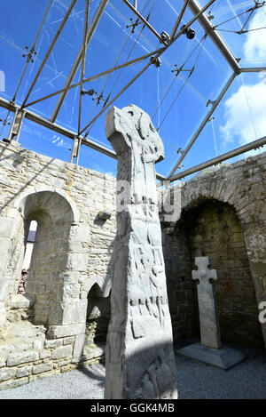 Doorty Cross in the Burren, Clare, West coast, Ireland - Stock Photo