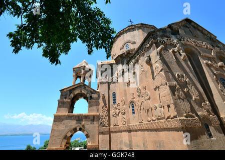 Achtamar Church on lake Van, Kurds area, east Anatolia, East Turkey, Turkey - Stock Photo