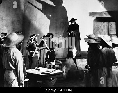 IM ZEICHEN DES ZORRO / The Mark of Zorro USA 1940 / Rouben Mamoulian Szene mit TYRONE POWER (Zorro). Regie: Rouben - Stock Photo