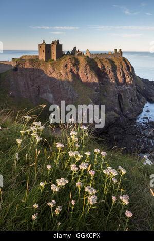 Dunnottar Castle, Stonehaven, Aberdeenshire, Scotland, United Kingdom - Stock Photo