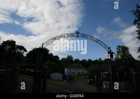Royal naval college gates, naval college, British navy, navy, UK navy, UK military, UK naval college, royal naval - Stock Photo