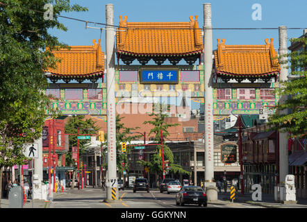 Gate of Vancouver China Town. - Stock Photo