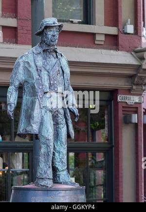Gassy Jack Statue in Gastown of Vancouver. - Stock Photo