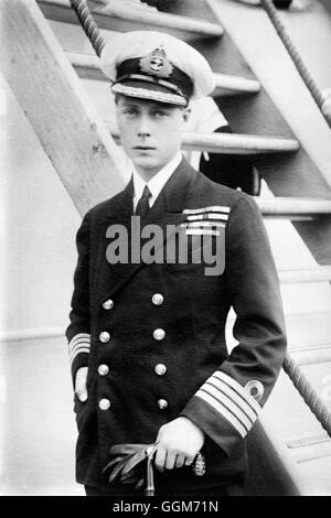 Edward VIII. Portrait of the Prince of Wales, future King Edward VIII and Duke of Windsor (1894-1972), in naval - Stock Photo