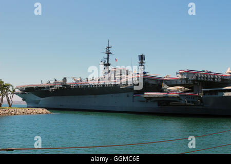 The USS Midway aircraft carrier museum - Stock Photo