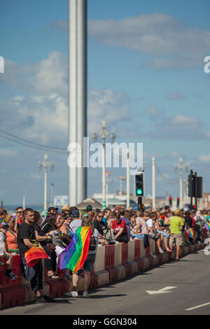 Brighton Pride 6th August 2016, England. - Stock Photo
