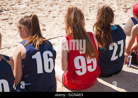 Branksome Chine Beach, Poole, Dorset, UK.  6 August 2016. Teams from across the UK compete in the British Beach - Stock Photo