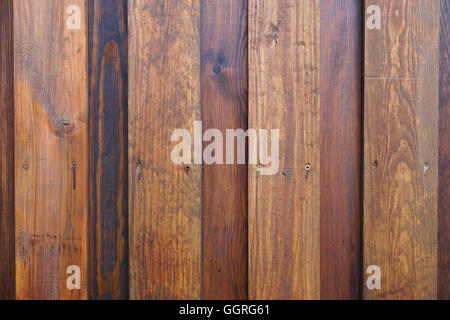 weathered wooden wall background - Stock Photo
