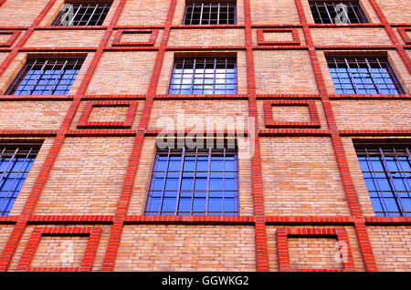 Brick building in the center of Prague - Stock Photo