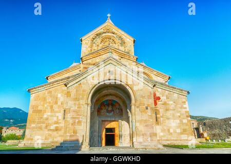 Svetitskhoveli Cathedral is a Georgian Orthodox cathedral in Mtskheta church - Stock Photo