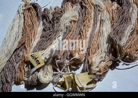 Ganado, Arizona - A sheep, wool, and weaving workshop at the Hubbell Trading Post on the Navajo Nation. - Stock Photo