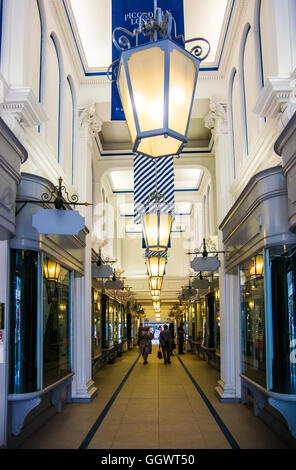 The Princess Arcade, opened in 1883, offers traditional quality, luxury and exclusive boutiques - London, UK - Stock Photo