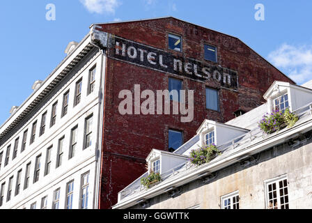 The Hotel Nelson on Place Jacques Cartier in Old Montreal, Quebec, Canada - Stock Photo