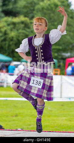 Moray, UK. 6th August, 2016. Moray, Scotland, UK. 6th August, 2016. This is Bronagh Gillies performing in the Highland - Stock Photo