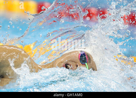 Rio De Janeiro, Brazil. 7th Aug, 2016. Sun Yang of China competes during the men's 200m freestyle semifinal at the - Stock Photo