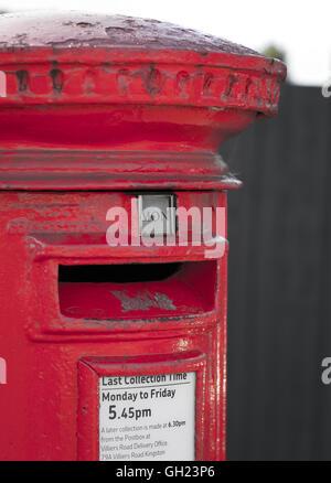 English Red Mail / Post Box, UK (London). 2016 - Stock Photo