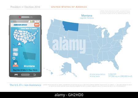 Political Map Of Montana Stock Photo Royalty Free Image - Montana map us