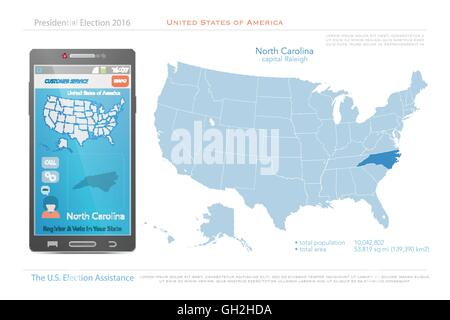 North Carolina State Political Map Stock Photo 18324177 Alamy - North Carolina Map Us